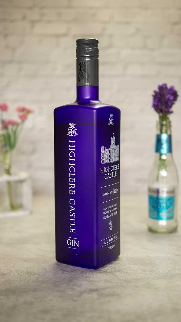 Highclere Castle Gin bottle.
