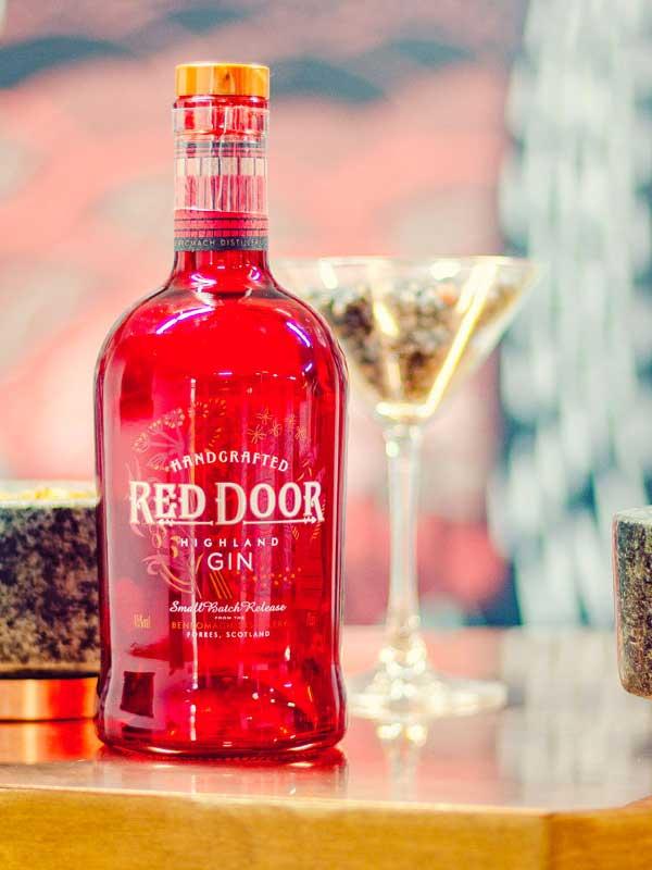 Red Door Gin bottle.
