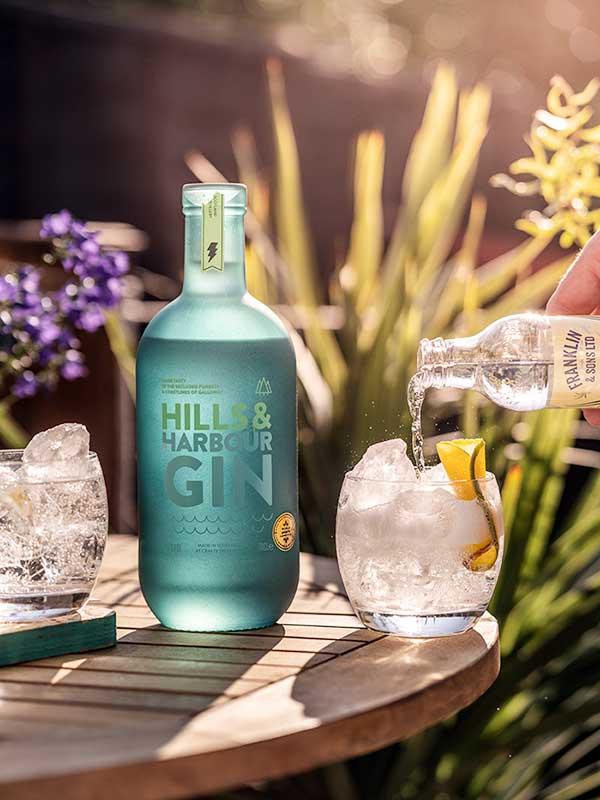 Highclere Castle Gin bottle.