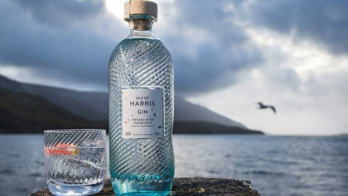 Isle of Harris Gin bottle.
