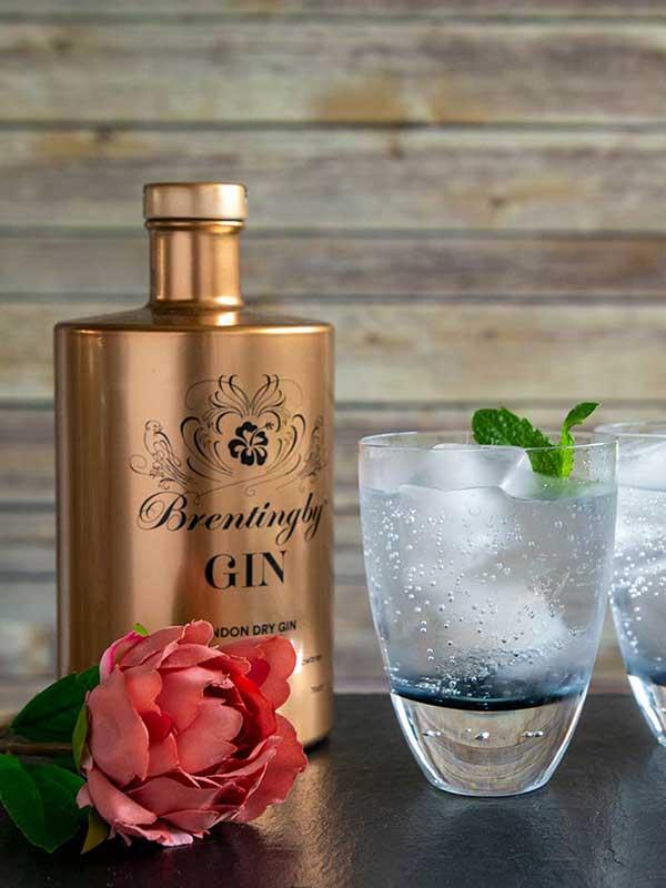 Brentingby Gin bottle.