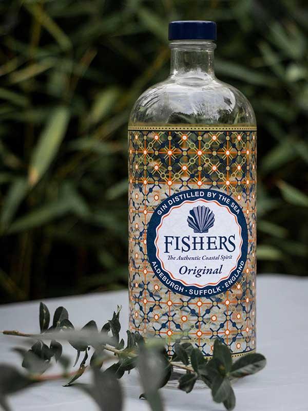 Fishers Gin bottle.