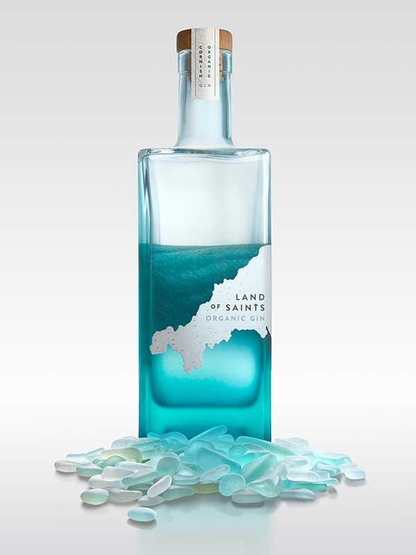 Land of Saints Gin bottle.
