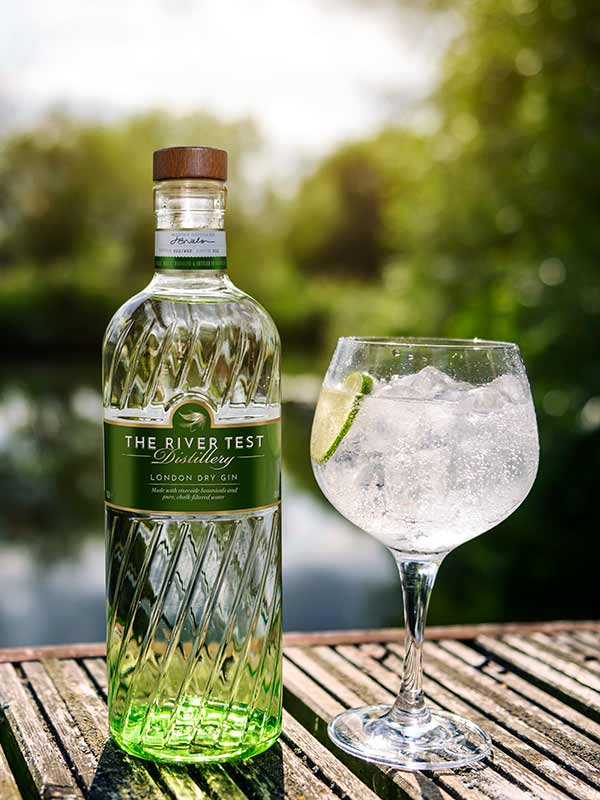 River Test Gin bottle.