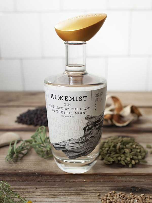 Alkkemist Gin bottle.