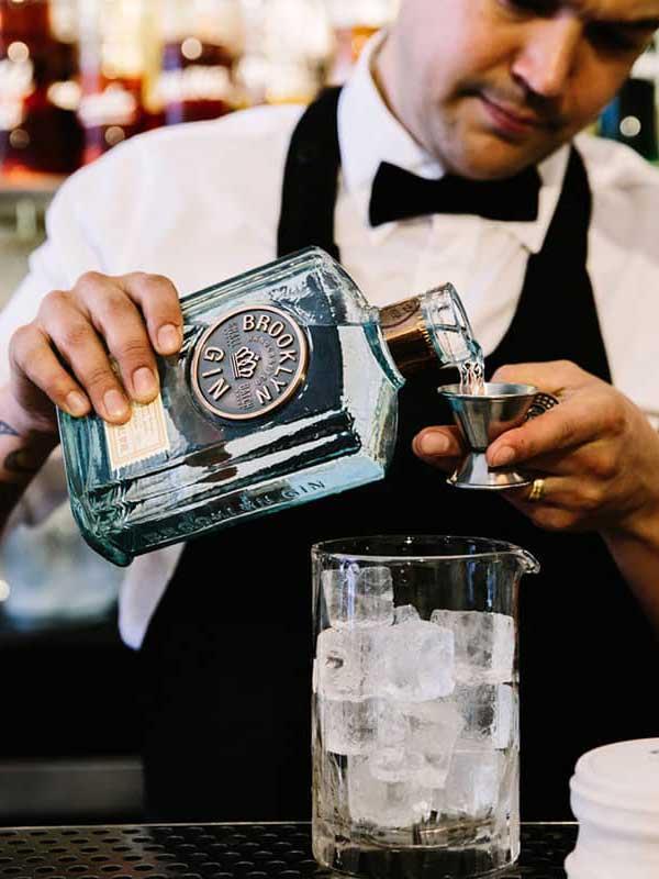 Brooklyn Gin bottle.