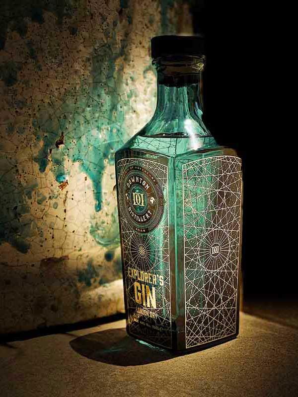 Explorer's Gin bottle.