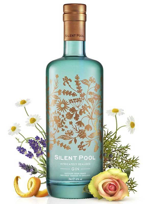 Silent Pool Gin bottle.