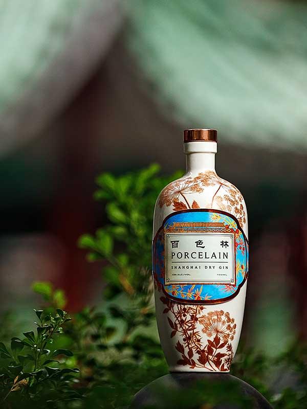 Porcelain Gin bottle.