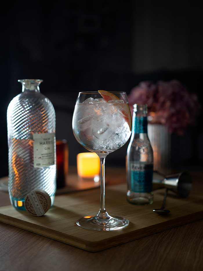 Wlater Gregor's Tonic Water, with Isle of Harris Gin in the background