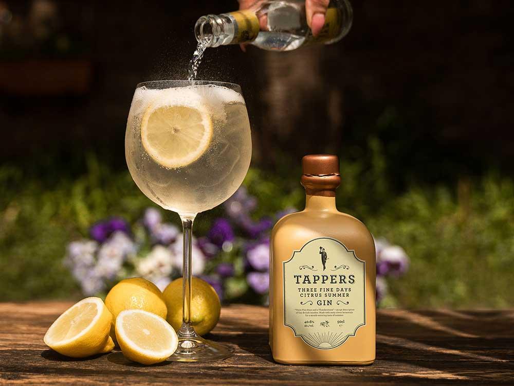 Tappers Three Fine Days Citrus Summer Gin.